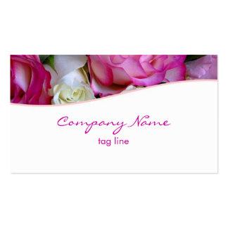 Tarjeta de visita rosada de los rosas