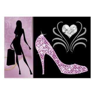 Tarjeta de visita rosada de moda de la versión - S