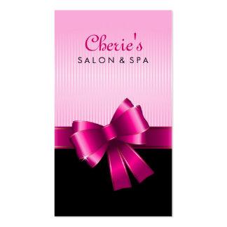 Tarjeta de visita rosada del arco