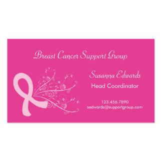 Tarjeta de visita rosada del cáncer de pecho de la