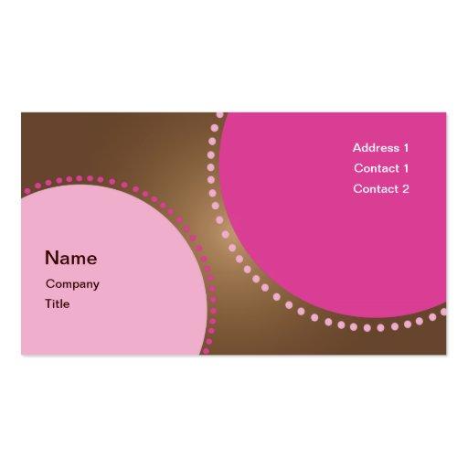 Tarjeta de visita rosada del círculo de Fuscia