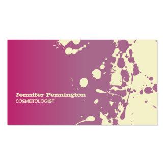 Tarjeta de visita rosada del cosmetologist de la s