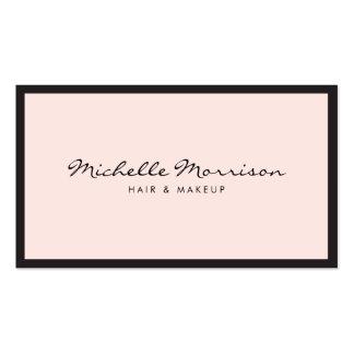 Tarjeta de visita rosada del maquillaje y de la