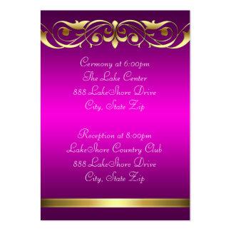 Tarjeta de visita rosada del oro de la grande duqu