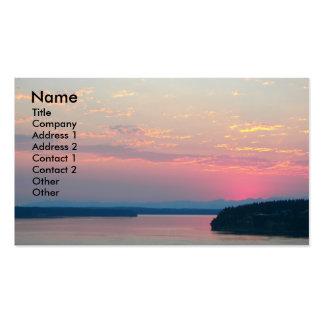 Tarjeta de visita rosada del paisaje del paisaje
