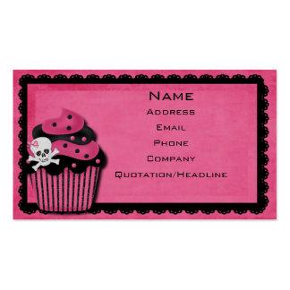 tarjeta de visita rosada del punk_cupcake