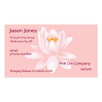 Tarjeta de visita rosada del símbolo de OM