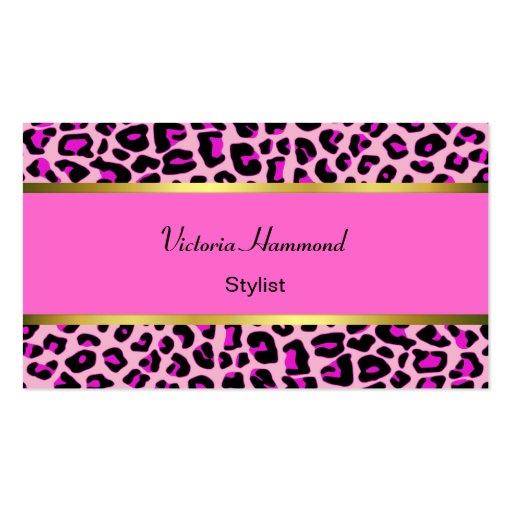 Tarjeta de visita rosada elegante de la impresión