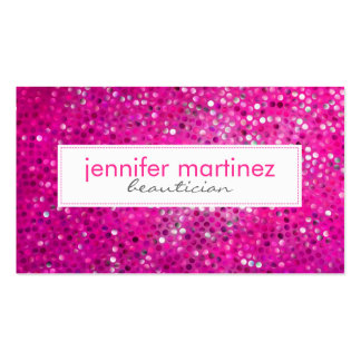 Tarjeta de visita rosada elegante del Beautician d