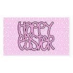 Tarjeta de visita rosada feliz de Pascua