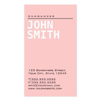 Tarjeta de visita rosada llana simple del anunciad