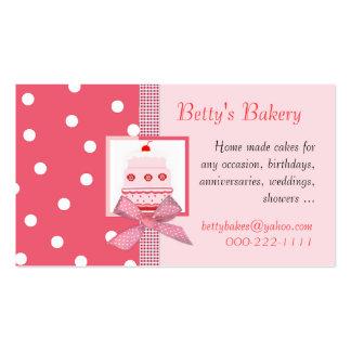 Tarjeta de visita rosada y de color salmón de moda
