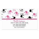 Tarjeta de visita rosada y negra de la mamá de