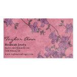 Tarjeta de visita rosada y púrpura de la flor