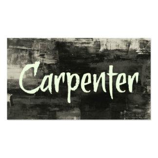 Tarjeta de visita rústica del carpintero