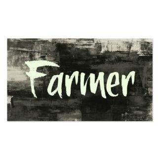 Tarjeta de visita rústica del granjero