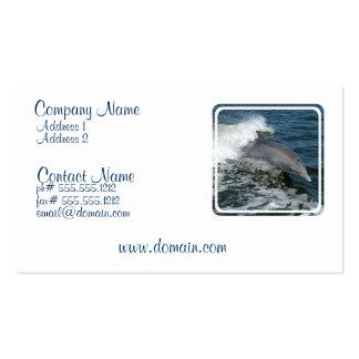 Tarjeta de visita salvaje del delfín