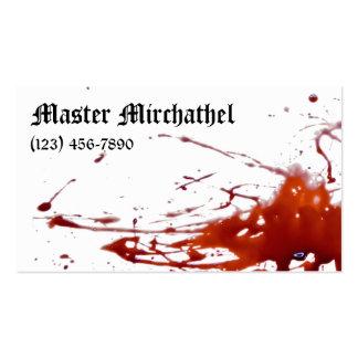 Tarjeta de visita sangrienta principal del vampiro