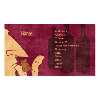 Tarjeta de visita Savoring del vino