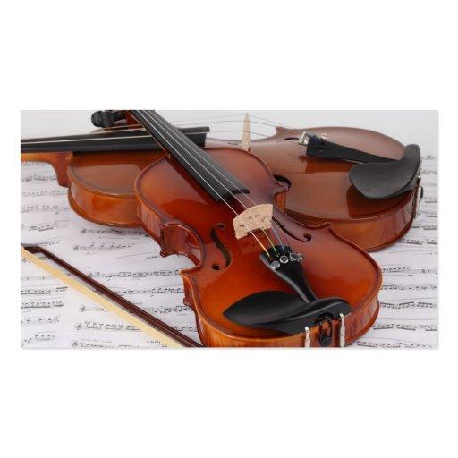 Tarjeta de visita: Servicio del violín