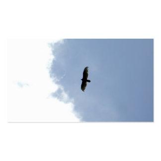 tarjeta de visita simple con todo potente - águila