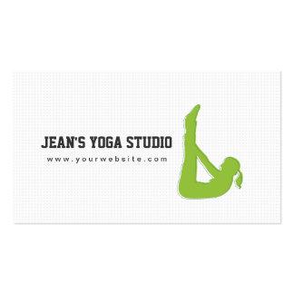 Tarjeta de visita simple de la yoga y de la salud