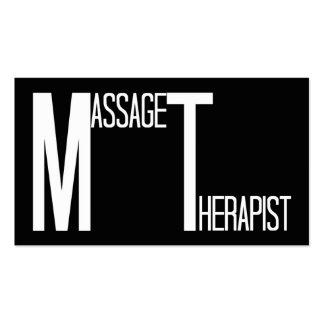 Tarjeta de visita simple del negro del terapeuta d