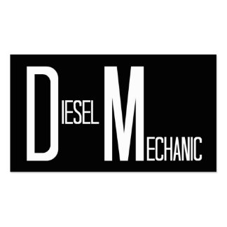 Tarjeta de visita simple del negro diesel del mecá