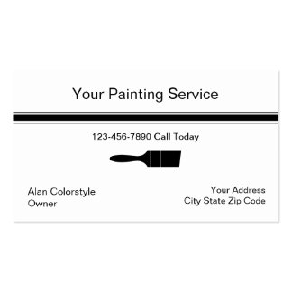 Tarjeta de visita simple del pintor