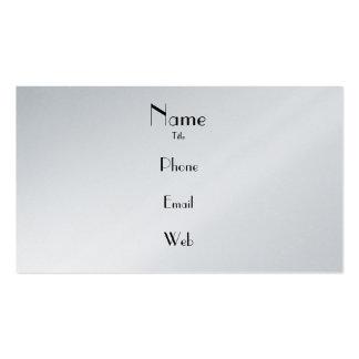 Tarjeta de visita simple del platino