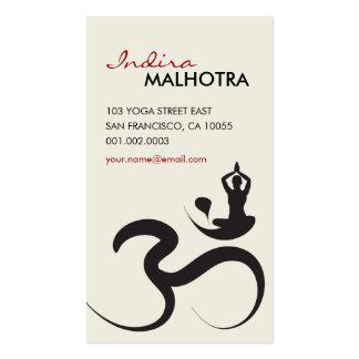 Tarjeta de visita simple del zen de la caligrafía