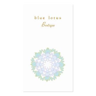 Tarjeta de visita simple elegante de la flor de Lo