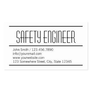 Tarjeta de visita simple moderna del ingeniero de