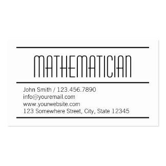 Tarjeta de visita simple moderna del matemático