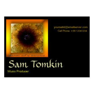 Tarjeta de visita - sonido y música