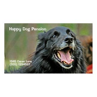 Tarjeta de visita sonriente del perro negro