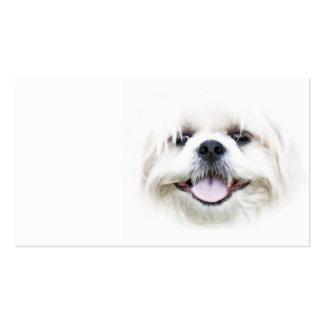 Tarjeta de visita sonriente del tzu de shih