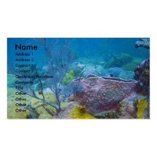 Tarjeta de visita subacuática