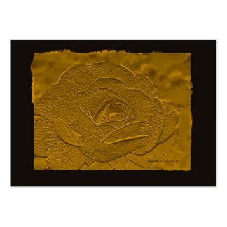 Tarjeta de visita subió oro profundo grabada en re