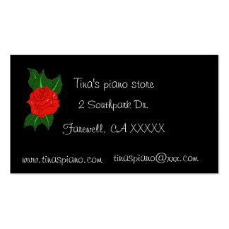 Tarjeta de visita subió piano