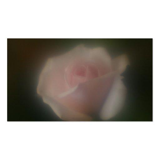 Tarjeta de visita subió rosa suave hermoso de la l