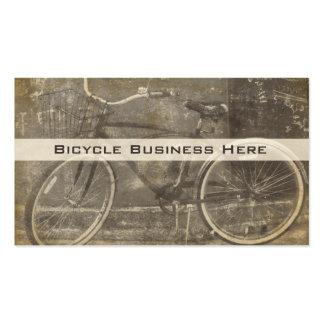 Tarjeta de visita sucia de la bicicleta del