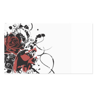 Tarjeta de visita sucia de los rosas
