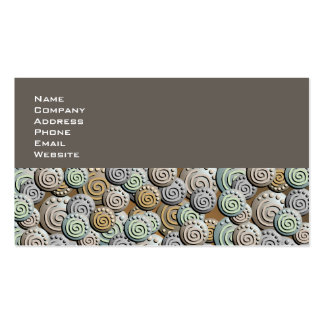 Tarjeta de visita tallada del modelo de las piedra