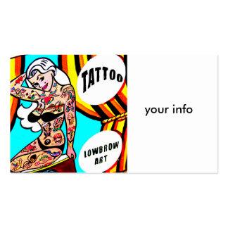 tarjeta de visita tatuada blonde de la señora