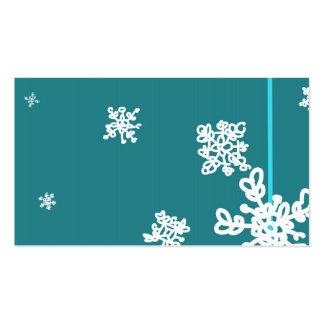 Tarjeta de visita temática de la nieve