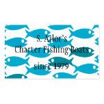 Tarjeta de visita temática de la pesca, de los mar