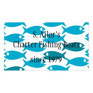 Tarjeta de visita temática de la pesca de los mar