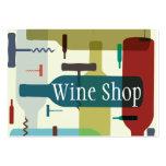 Tarjeta de visita temática del vino