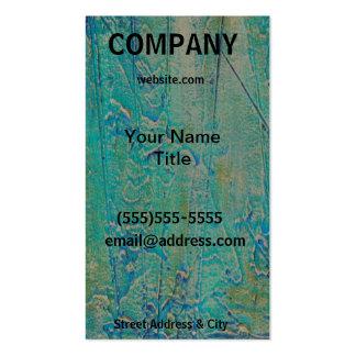 Tarjeta de visita texturizada azulverde del arte r